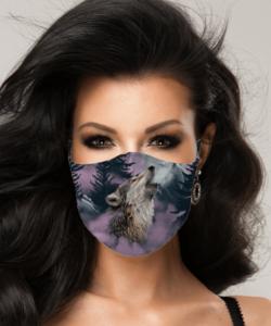 Textil szájmaszk felnőtt farkas