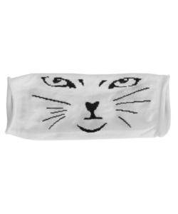 Textil szájmaszk fehér cica mintás felnőtt
