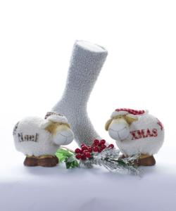 Szürke pihe-puha női zokni