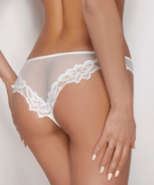 Ewana fehér csipke szegélyes tüll női bugyi