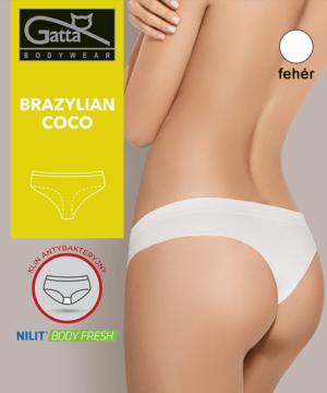 Gatta fehér női brazil bugyi Coco