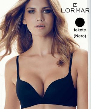 Lormar merevítő nélküli push up melltartó fekete Desiderio B kosár