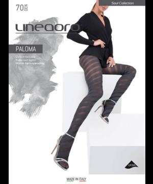 Lineaoro nagyméretű szürke mintás női harisnya nadrág 70d Paloma