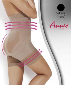 Annes alakformáló fehérnemű short fekete Super Slim