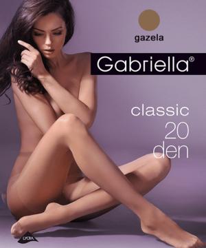 Gabriella egyszínű barna harisnya Classic 20Den