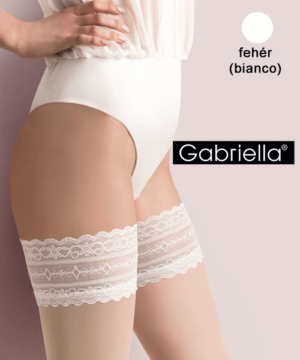 Gabriella fehér combfix Caroline