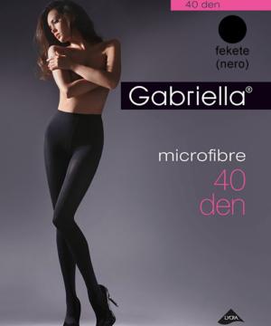 Gabriella fekete kissé átlátszó mikrofibra harisnyanadrág 40den
