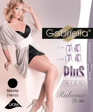 Gabriella fekete plus size harisnya alacsony hölgyeknek Rubensa 20 den