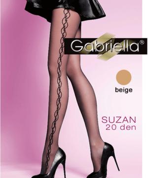 Gabriella mintás harisnya Suzan testszínű 20 den
