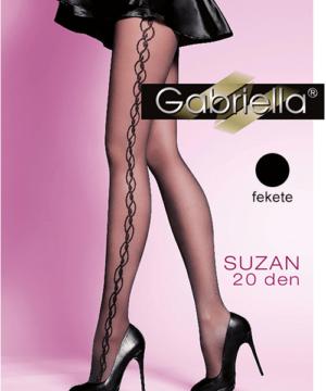 Gabriella mintás harisnya fekete Suzan