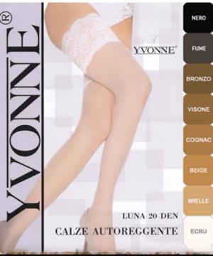 Yvonne nagyméretű combfix bézs 20d Luna