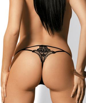 Obsessive fekete csipke tanga Luiza