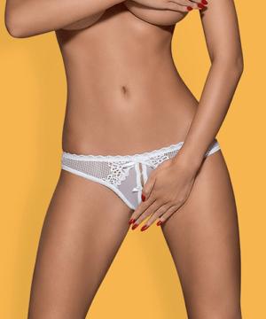 Obsessive szexi fehér nyitott csipke tanga Alabastra