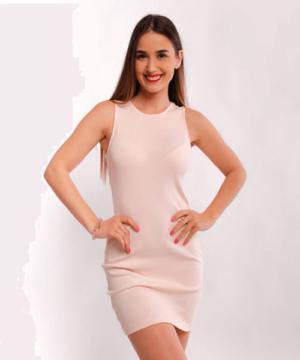 Victoria Moda bordázott miniruha rózsaszín