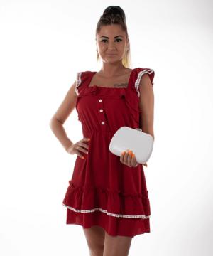 Piros fodros nyári ruha