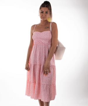 Pöttyös nyári ruha rózsaszín