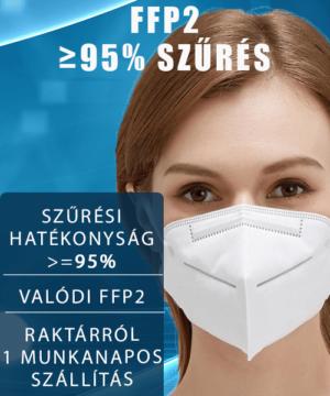 FFP2 maszk 5 rétegű 95 százalékos szűrés