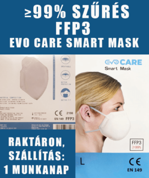 FFP3 maszk négyrétegű smart mask, 99% szűrési hatékonyság
