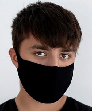 Textil szájmaszk fekete férfi FFP2 szűrőhöz