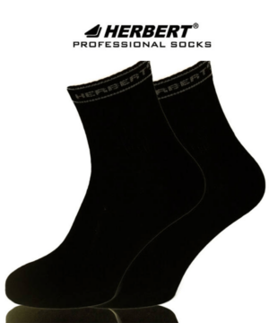 Herbert fekete pamut sport bokazokni