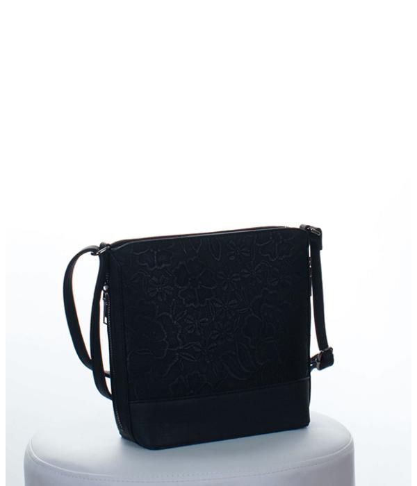 Silvia Rosa fekete hímzett csipke mintás női táska - Női táskák feeaa8caec