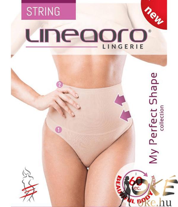 Lineaoro fekete alakformáló fehérnemű tanga elise string