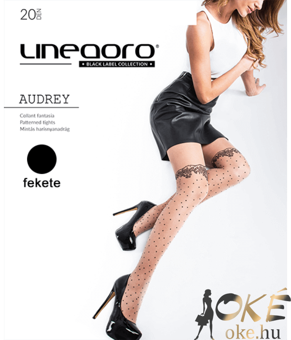 Lineaoro fekete combfix mintás harisnyanadrág Audrey