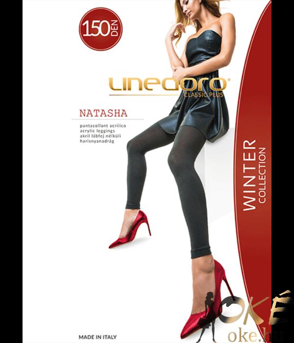 Lineaoro fekete akril vastag lábfej nélküli női harisnya nadrág