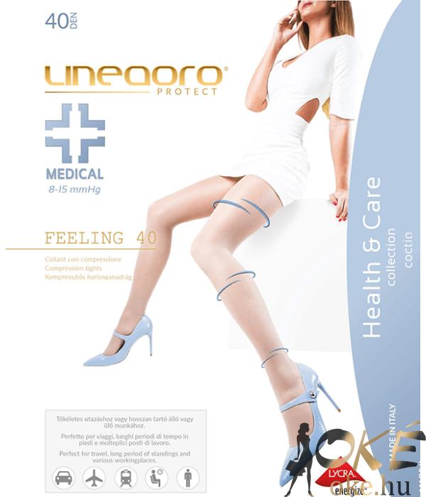 Lineaoro kompressziós bézs harisnya nadrág 40d Medical Feeling