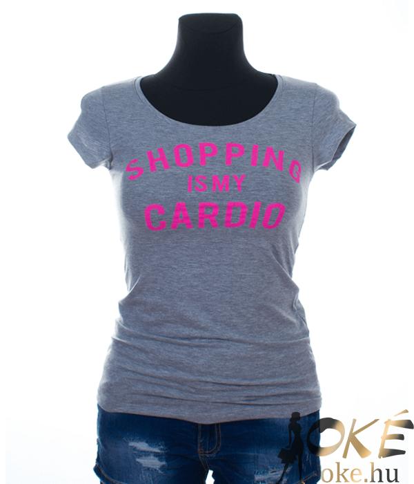 Victoria moda szürke feliratos női póló