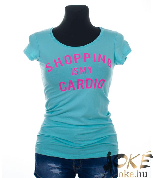Victoria moda mentazöld feliratos női póló
