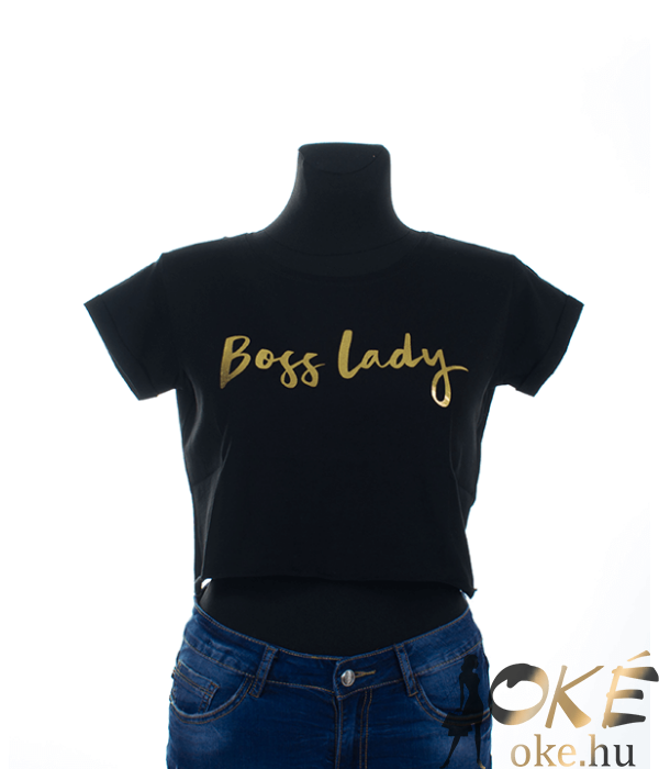 Boss lady fekete női felső