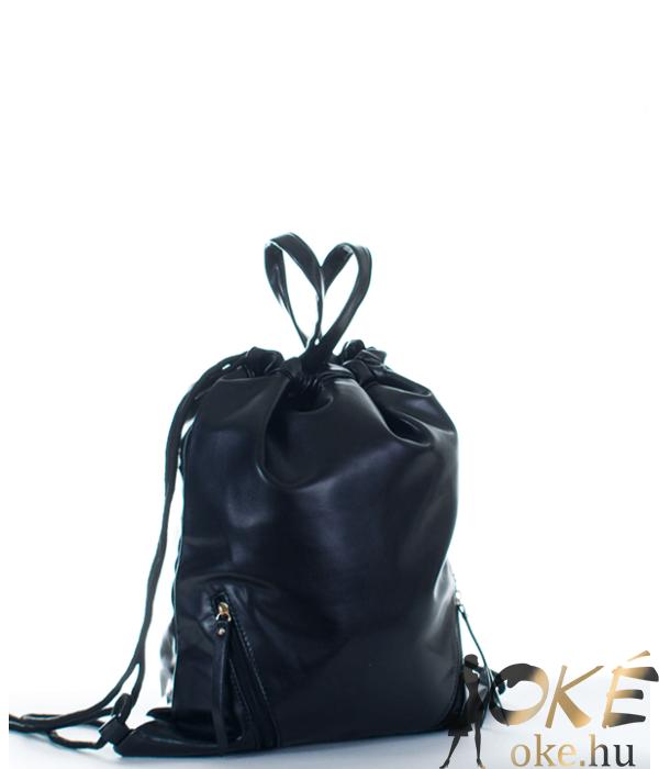 Fekete női divat tornazsák