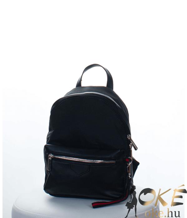 Fekete vászon divatos női táska