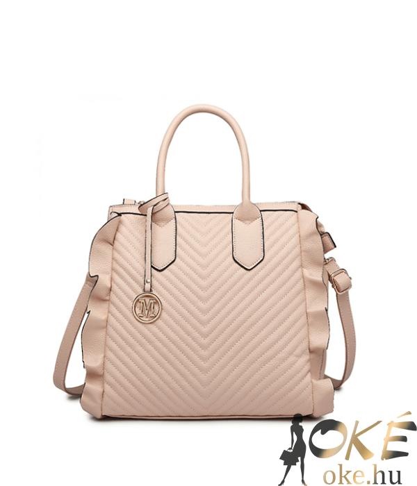 Miss Lulu púder fodros divatos női táska